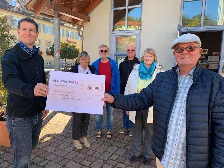 Spende an Seniorenbeirat Stadtroda